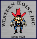 Western brand automotive hoists - logo